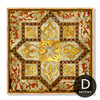 Retro Vintage Moroccan Style Golden Canvas Art (4)