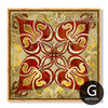 Retro Vintage Moroccan Style Golden Canvas Art (7)