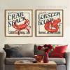 Marine Animals Crab Lobster Set of 2 Piece Living Room Decor (3)