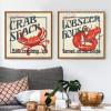 Marine Animals Crab Lobster Set of 2 Piece Living Room Decor