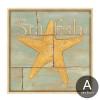 Retro Design Sea Creatures Starfish Seashell Art Prints (1)