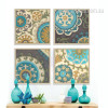Retro Moroccan Style 4 Piece canvas Art (2)