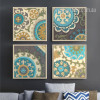 Retro Moroccan Style 4 Piece canvas Art