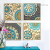 Retro Moroccan Style 4 Piece canvas Art (1)
