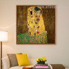 Gustav Klimt The Kiss Painting Print