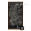 Black and White New York City Map Oversized Canvas Art