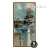 Abstract Blue Painting Style Oversized Canvas Print (2)