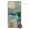 Abstract Blue Painting Style Oversized Canvas Print
