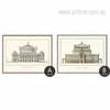 Paris Theater De L'opera Germany Dresden Canvas Prints Set (3)