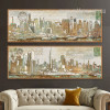 Panoramic New York Manhattan Oversized Canvas Art (3)
