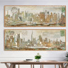 Panoramic New York Manhattan Oversized Canvas Art