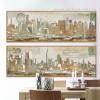 Panoramic New York Manhattan Oversized Canvas Art (2)