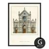 Basilica Di Santa Croce Florence Vintage Poster Design Canvas Print (2)