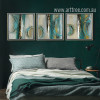 Modern Abstract Painting Squares 3 Piece Canvas Art (3)