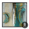 Modern Abstract Painting Squares Canvas Print (2)