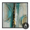 Modern Abstract Painting Squares Canvas Print