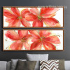 Botanical Red Floral Oversized Canvas Prints (3)