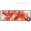 Botanical Red Floral Oversized Canvas Art (2)