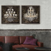 Retro Style Crystal Chandelier Pattern Canvas Prints (3)