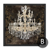 Retro Design Crystal Chandelier Pattern Canvas Art (2)
