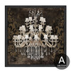 Retro Design Crystal Chandelier Pattern Canvas Art