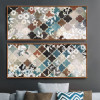 Moroccan Pattern Floral Canvas Art (3)