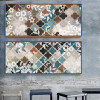 Moroccan Pattern Floral Canvas Art (2)