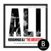 Muhammad Ali The Greatest Boxer Black & White Canvas Art (2)