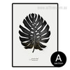 Black and White Monstera Leaf Art (2)