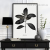 Black and White Golden Leaf Tree Art
