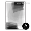 Black and White Geometric Rectangles Canvas Print (2)