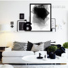 Black and White Geometric Rectangles Canvas Art Print