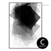 Black and White Geometric Rectangle Canvas Print (3)