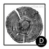 Long Tree Ring Black and White Canvas Art (4)