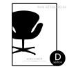 Swan Chair by Arne Retro Design Canvas Art