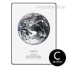 Black and White Earth Human Home Design Canvas Print