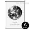 Black and White La Lune The Moon Design Canvas Print
