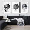 Earth Human Home, La Lune The Moon, The Venus Planets Art Print