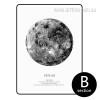 Black and White The Venus Planet Design Canvas Print