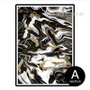 Black White & Golden Abstract Marble Design Canvas Wall Art (2)