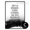 She's A Dreamer A Doer A Thinkee Quote Canvas Print (2)