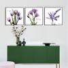 Imagine Believe Words Design Purple Floral Art Set (3)