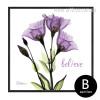 Imagine Believe Words Design Purple Floral Art (2)