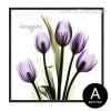 Imagine Believe Words Design Purple Floral Art