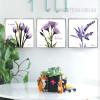Imagine Believe Words Design Purple Floral Art Set (2)