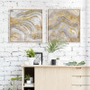 Golden Abstract Watercolor Prints (2)