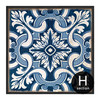 Blue and White Porcelain Moroccan Pattern Canvas Artwork