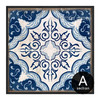 Blue and White Porcelain Moroccan Pattern Canvas Print