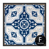Blue and White Porcelain Moroccan Pattern Canvas Art