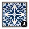 Blue and White Porcelain Moroccan Pattern Split Canvas Print